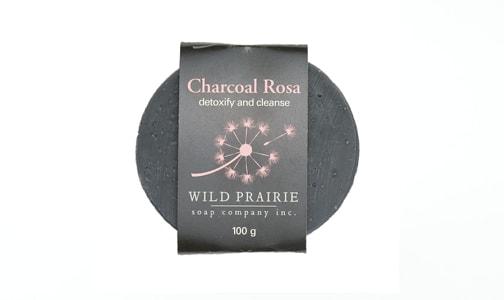 Charcoal Rosa Natural Bar Soap- Code#: PC4752