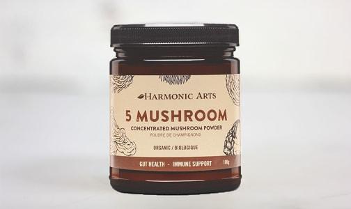 Organic 5 Mushroom Concentrated Mushroom Powder- Code#: PC4837