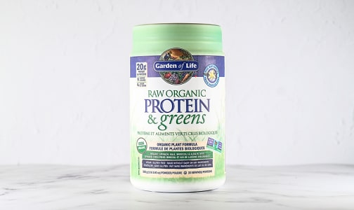Organic RAW Protein & Greens - Vanilla- Code#: PC4938