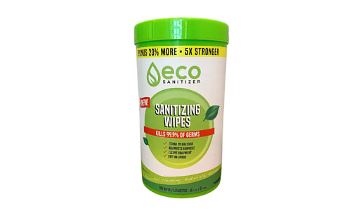 Eco Sanitizing Wipes - 70% Alcohol- Code#: PC5030