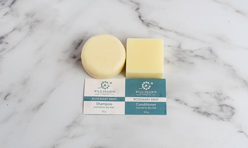 Shampoo and Conditioner Bar Set - Rosemary Mint- Code#: PC5038