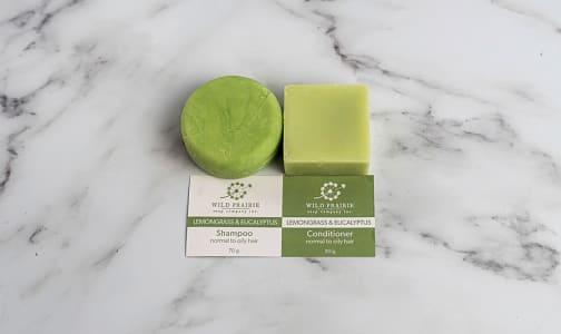 Shampoo and Conditioner Bar Set - Lemongrass & Eucalyptus- Code#: PC5039
