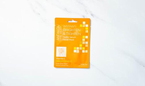 Organic Instant Brighten and Tighten Facial Sheet Mask- Code#: PC5122