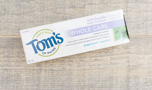 Whole Care Peppermint Toothpaste- Code#: PC592