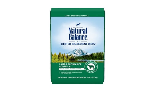 Limited Ingredient Diet - Lamb & Brown Rice Dog Formula- Code#: PD034