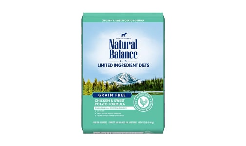 Limited Ingredient Diet - Chicken & Sweet Potato Dog Formula- Code#: PD044