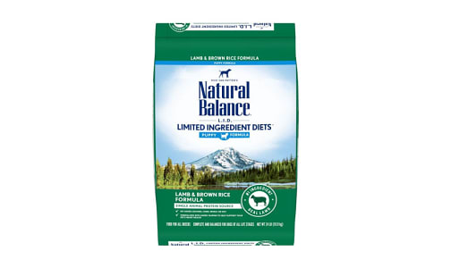 Limited Ingrdient Diet - Lamb & Brown Rice Formula for Puppies- Code#: PD059