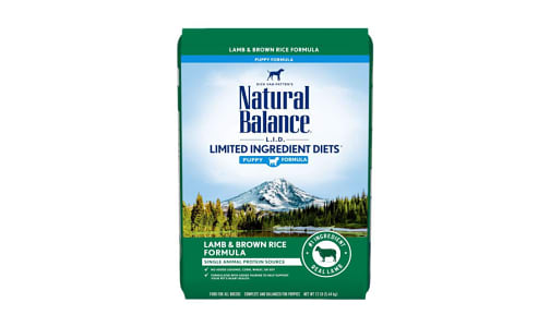 Limited Ingrdient Diet - Lamb & Brown Rice Formula for Puppies- Code#: PD063