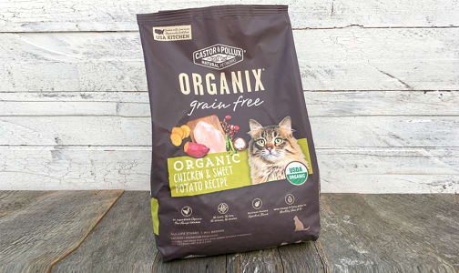 Organic Chicken and Sweet Potato Dry Cat Food- Code#: PE312