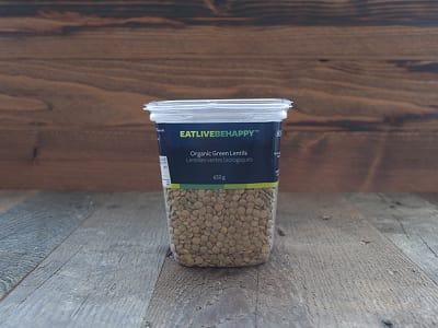 Organic Green Lentils- Code#: PL002