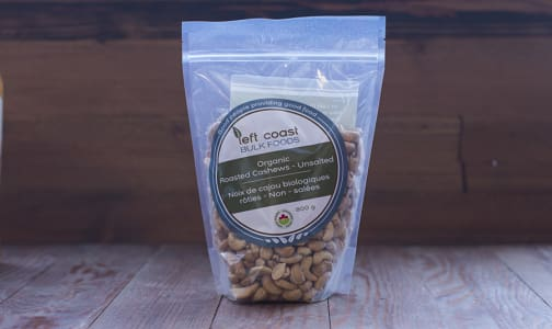 Organic Whole Cashews - Roasted & Unsalted- Code#: PL509