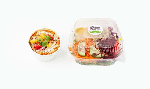 Organic Hearty Veg Stew +1/2 Superfood Salad Combo- Code#: PM0630