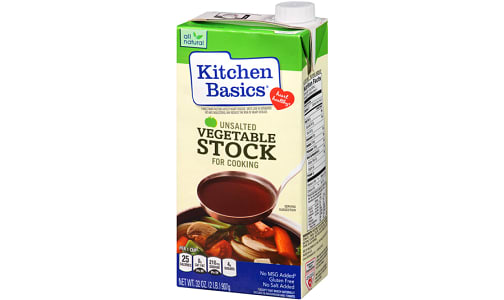 Unsalted Vegetable Stock- Code#: PM1016