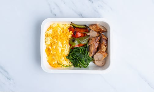 Keto Scrambled Egg with Breakfast Sausage- Code#: PM1147