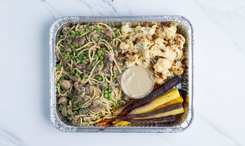 Vegan Carbonara with Roasted Vegetables - 2 Person- Code#: PM1158