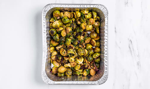 Organic Roasted Brussel Sprouts, Balsamic and Toasted Walnuts- Code#: PM1176