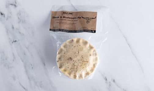 Steak & Mushroom Pie, Grass Fed (Frozen)- Code#: PM1210