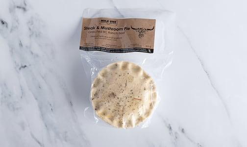Steak & Mushroom Pie, Grass Fed (Frozen)- Code#: PM1210
