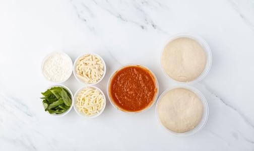 Vegan Margherita Frying Pan Pizza Kit - 4 servings- Code#: PM1291