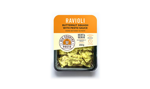 Butternut Squash Ravioli with Pesto - Heat & Serve- Code#: PM154