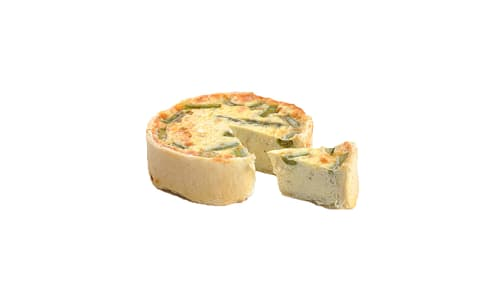 Asparagus & Asiago Quiche (Frozen)- Code#: PM201
