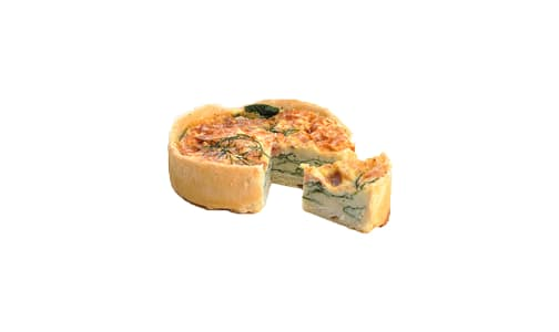 Smoked Salmon & Dill Quiche (Frozen)- Code#: PM203