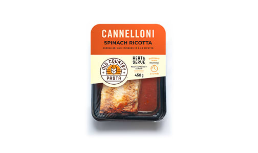 Spinach Ricotta Cannelloni - Heat &Serve- Code#: PM258