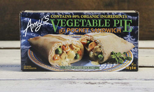 Organic Vegetable Pie Pocket Sandwich (Frozen)- Code#: PM3220