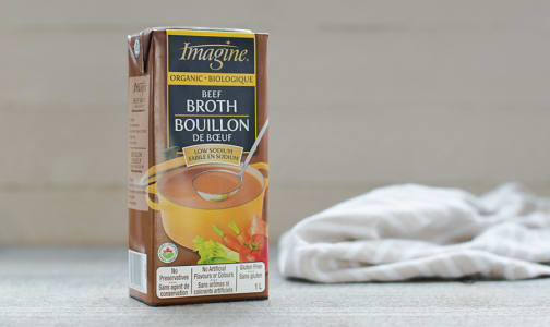 Organic Low Sodium Beef Broth- Code#: PM457
