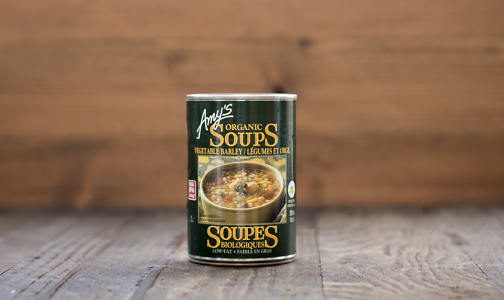 Organic Vegetable Barley Low Fat Soup - BPA Free- Code#: PM489