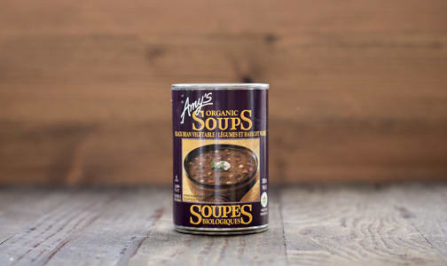 Organic Amy's Black Bean Vegetable Soup - BPA Free- Code#: PM494
