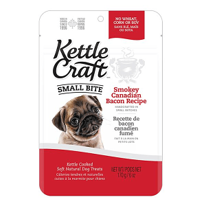 Smokey Canadian Bacon Small Bite Dog Treats- Code#: PT032