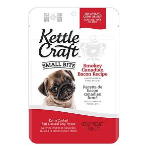 Smokey Canadian Bacon Small Bite Dog Treats- Code#: PT032