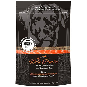 FeelGood Maple Glazed Wild Pacific Salmon & Beluberries Dog Treats- Code#: PT101