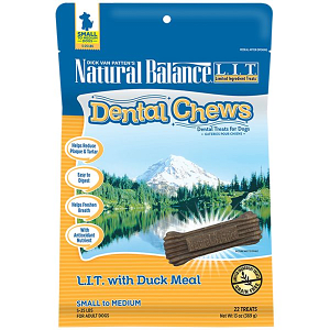 Limited Ingredient Treats: Duck Dental Chews - Small to Medium Breed- Code#: PT110