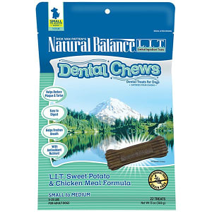 Limited Ingredient Treats: Sweet Potato & Chicken DentalChews - Small to Medium- Code#: PT118