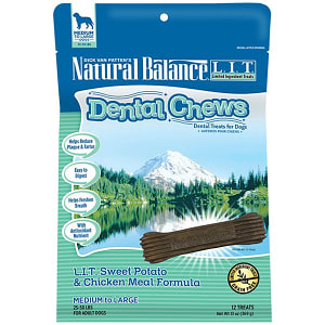 Limited Ingredient Treats: Sweet Potato & Chicken DentalChews - Medium to Large- Code#: PT120