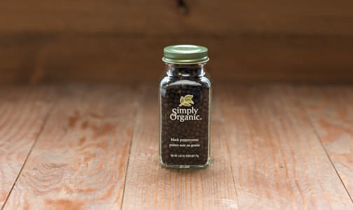Organic Whole Black Peppercorns in Glass Bottle- Code#: SA0150