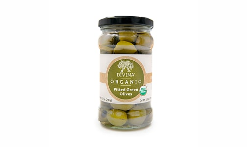 Organic Pitted Green Olive Deli Cup- Code#: SA0287