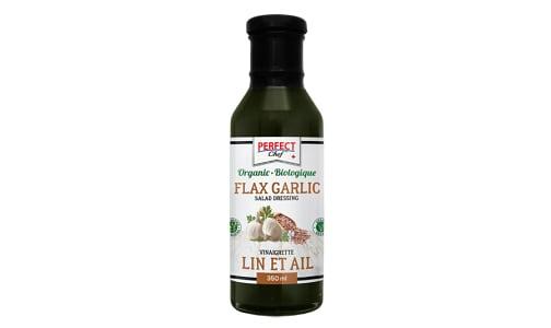 Organic Flax Garlic Salad Dressing- Code#: SA0345