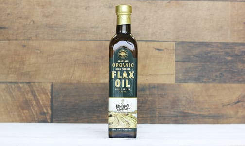 Organic Cold Pressed Flaxseed Oil- Code#: SA0445