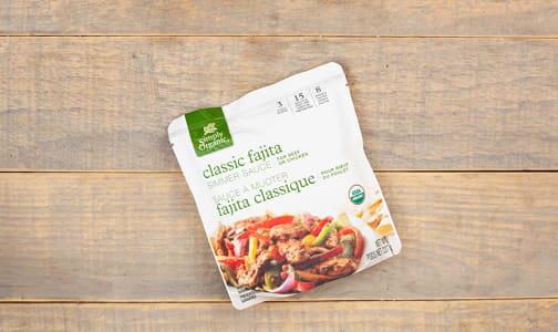 Organic Simmer Sauce - Classic Fajita- Code#: SA0459