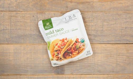 Organic Simmer Sauce - Mild Taco- Code#: SA0462