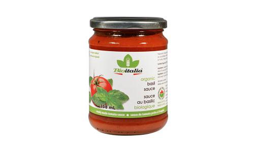 Organic Tomato Sauce with Basil- Code#: SA1036