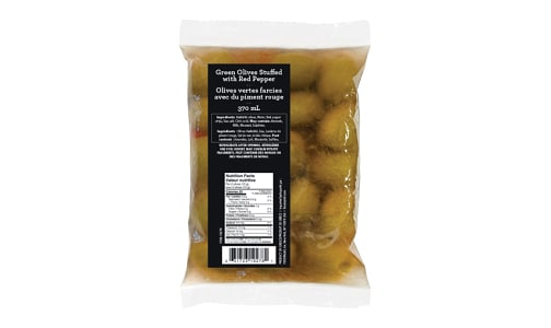 Olive Stuffed With Red Pepper, Pouch- Code#: SA1178