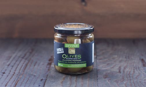Jalapeno Stuffed Olives- Code#: SA1502