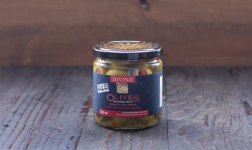 Red Pepper Stuffed Olives- Code#: SA1503