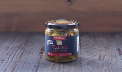 Red Pepper Stuffed Olives- Code#: SA1503