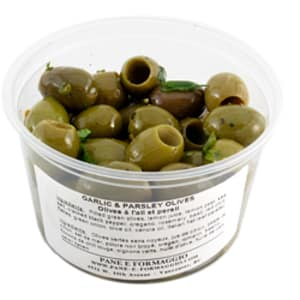 Garlic & Parsley Olives- Code#: SA652