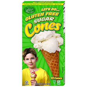 Gluten Free Ice Cream Cones - Sugar Cones- Code#: SN0051